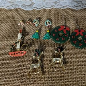 Christmas bundle of pins and earrings